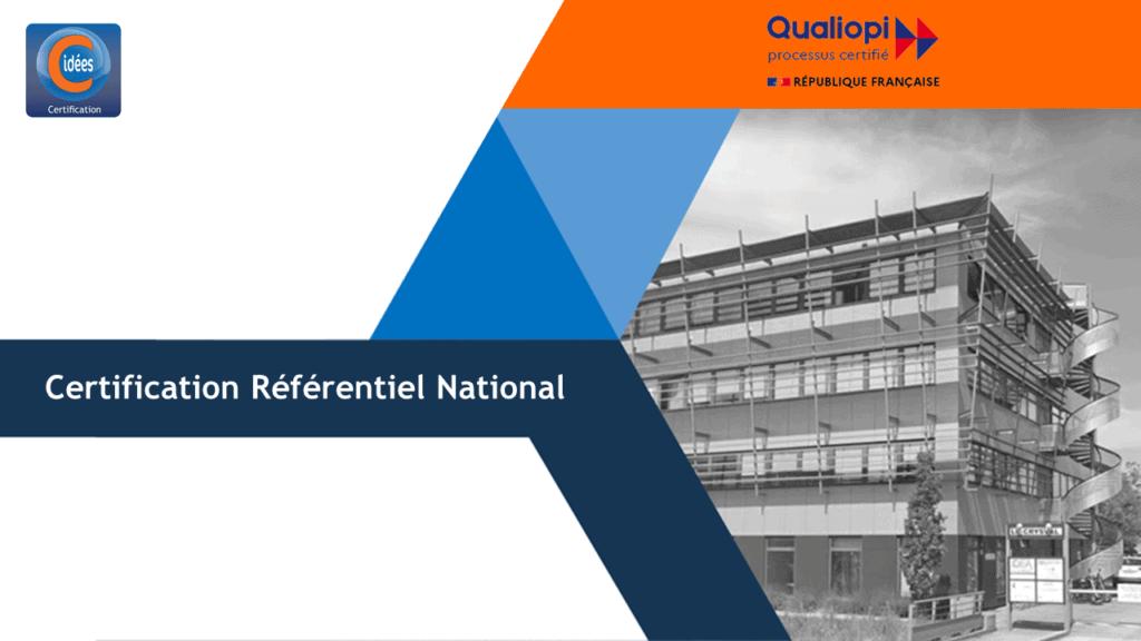 Certification référentiel national Qualiopi
